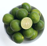 Limes in a bowl Royalty Free Stock Images