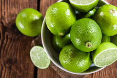 Limes (close-up shot) Stock Images