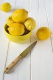 Limões do corte Imagens de Stock