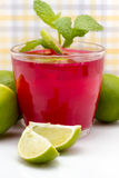 Limes In Drink Recipe Royalty Free Stock Photos