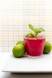 Limes In Drink Recipe Stock Image