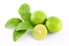 Limes fruit and leaf Royalty Free Stock Photo