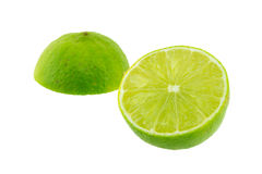 Limes with half isolated Stock Photography