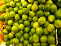 Limes at the Hispanic Grocery Store stock photos