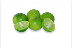 Limes isolated on a white background. Several limes isolated on a clear white background Stock Image