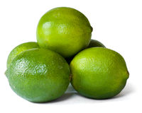Limes isolated on white background Stock Image