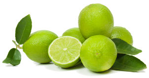 Limes with leaves Royalty Free Stock Image