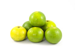 Limes or lemon Green on a white background. Lemon Royalty Free Stock Image