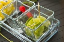 Limes and lemon Stock Image