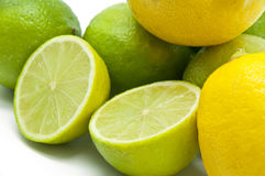 Limes and lemons Royalty Free Stock Images