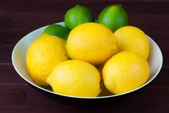 Limes and lemons Royalty Free Stock Photos