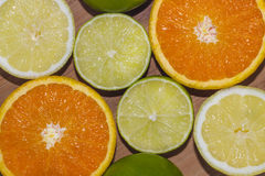 Limes, lemons and oranges Royalty Free Stock Image
