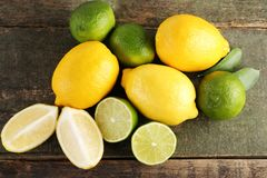 Limes and lemons Stock Photos