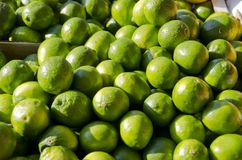 Limes. For sale in the outdoor market Royalty Free Stock Image