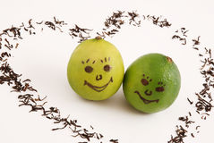 Limes in love Royalty Free Stock Photography