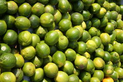 Limes at a market stall Stock Photo