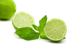 Limes with mint Royalty Free Stock Images