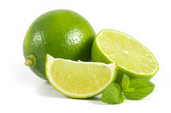 Limes with mint Royalty Free Stock Image