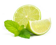 Limes with mint Stock Image