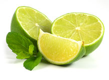 Limes with mint Stock Images