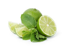 Limes with mint for mojito Royalty Free Stock Photography