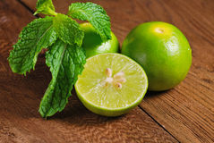 Limes and mint Royalty Free Stock Photography