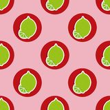 Limes pattern. Seamless texture with ripe limes Royalty Free Stock Image