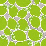 Limes pattern. Seamless texture with ripe limes Royalty Free Stock Photography