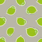 Limes pattern. Seamless texture with ripe limes Royalty Free Stock Photos