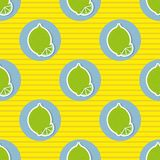 Limes pattern. Seamless texture with ripe limes Royalty Free Stock Photo