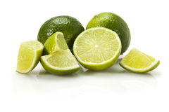 Limes and pieces Stock Image