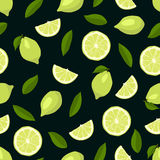 Limes seamless pattern Stock Image