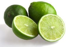 Limes with shadow Stock Photos