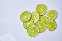 Limes sliced Royalty Free Stock Photo