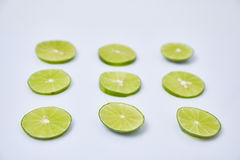 Limes sliced Royalty Free Stock Photography