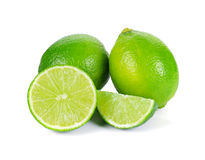 Limes with slices Royalty Free Stock Image