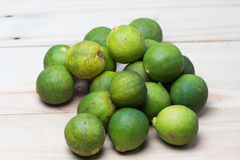 Limes from top angle Stock Photo