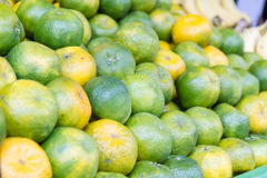Limes at a traditional Taiwanese market Royalty Free Stock Photo