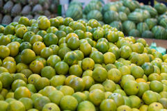 Limes at a traditional Taiwanese market Royalty Free Stock Images