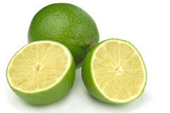 Limes on a white background Royalty Free Stock Photography