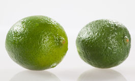 Limes on white background Royalty Free Stock Photo