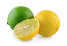 Limes on white background Stock Photography