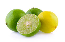 Limes on white background Stock Photo