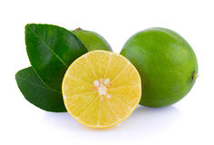 Limes on white background Royalty Free Stock Images