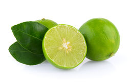 Limes on white background Royalty Free Stock Photography