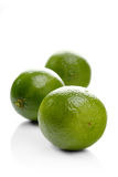 Limes on white background - close-up Royalty Free Stock Photo