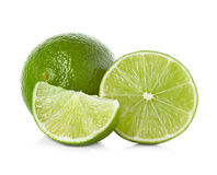 Limes on white background Stock Images