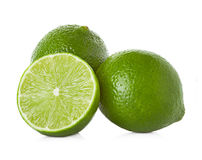 Limes on white background Royalty Free Stock Photos