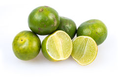 Limes on the white background Royalty Free Stock Photography