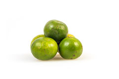 Limes on the white background Royalty Free Stock Photo